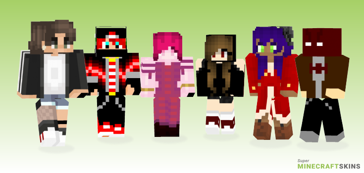 Red Minecraft Skins - Best Free Minecraft skins for Girls and Boys