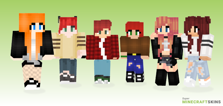 Redhead Minecraft Skins - Best Free Minecraft skins for Girls and Boys