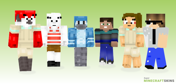 Regular Minecraft Skins - Best Free Minecraft skins for Girls and Boys