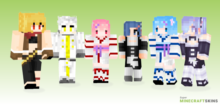 Rezero Minecraft Skins - Best Free Minecraft skins for Girls and Boys