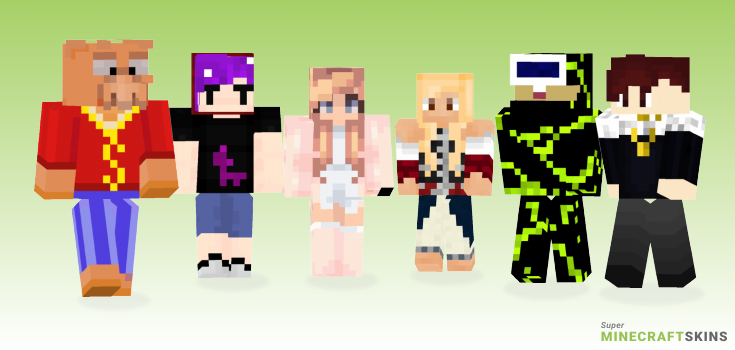 Rich Minecraft Skins - Best Free Minecraft skins for Girls and Boys