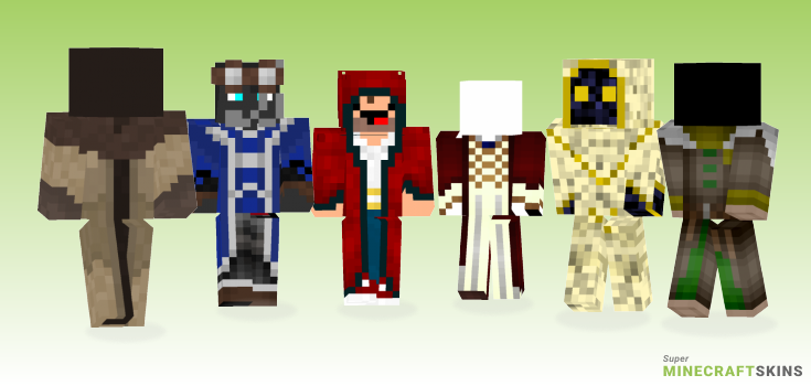 Robes Minecraft Skins - Best Free Minecraft skins for Girls and Boys