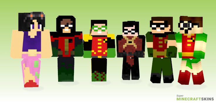 Robin Minecraft Skins - Best Free Minecraft skins for Girls and Boys