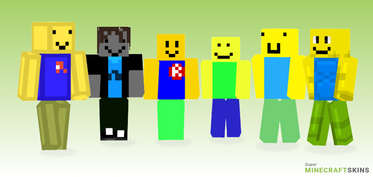Roblox Noob Minecraft Skins Download For Free At Superminecraftskins