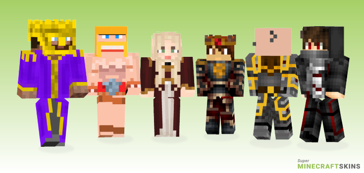 Royal Minecraft Skins - Best Free Minecraft skins for Girls and Boys