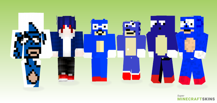 Sanic Minecraft Skins - Best Free Minecraft skins for Girls and Boys