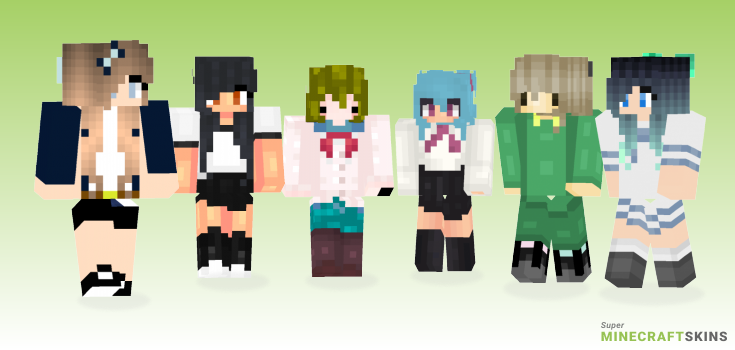 School Girl Minecraft Skins Download For Free At
