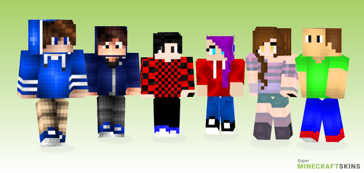 Shaded Minecraft Skins - Best Free Minecraft skins for Girls and Boys