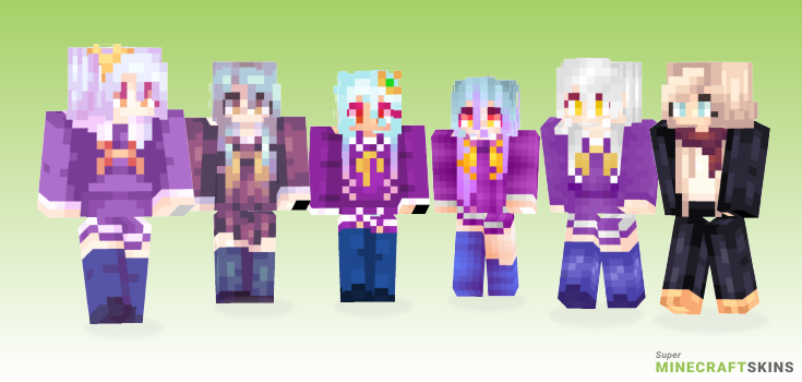 Shiro Minecraft Skins - Best Free Minecraft skins for Girls and Boys
