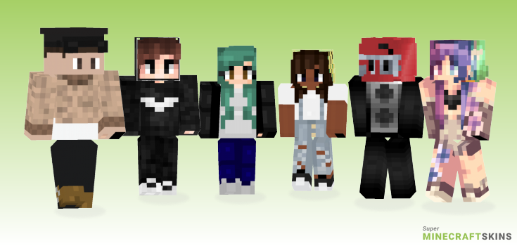 Sign Minecraft Skins - Best Free Minecraft skins for Girls and Boys