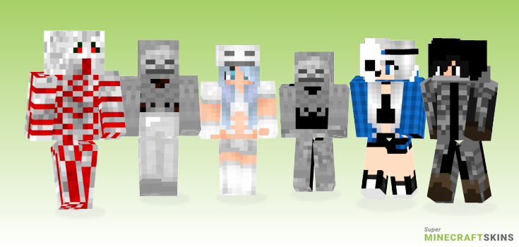 Skeleton Minecraft Skins - Best Free Minecraft skins for Girls and Boys
