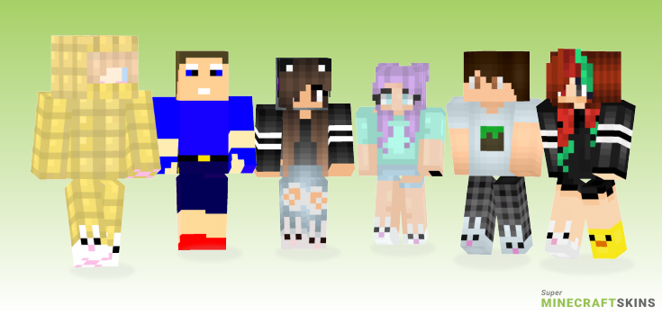 Slippers Minecraft Skins - Best Free Minecraft skins for Girls and Boys
