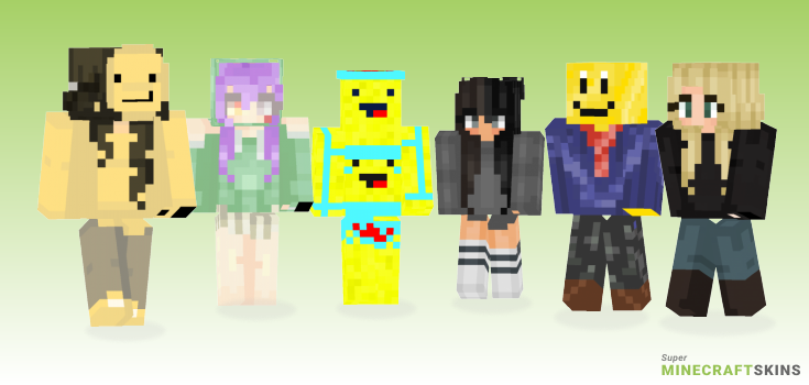 Smile Minecraft Skins - Best Free Minecraft skins for Girls and Boys