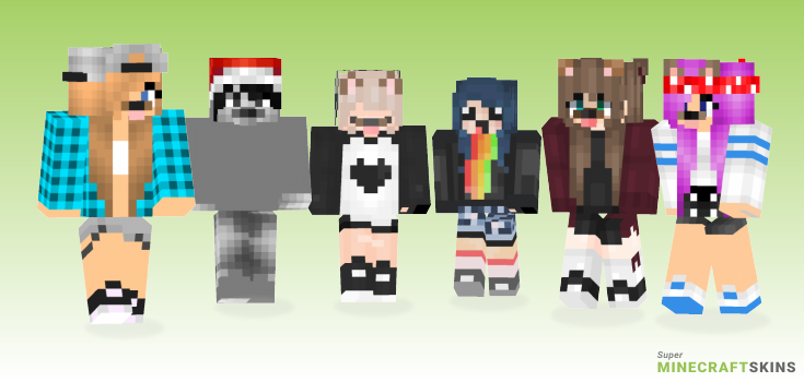 Snapchat Minecraft Skins - Best Free Minecraft skins for Girls and Boys