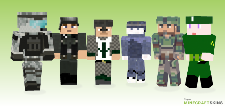Soldier Minecraft Skins - Best Free Minecraft skins for Girls and Boys