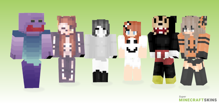 Spoopy Minecraft Skins - Best Free Minecraft skins for Girls and Boys