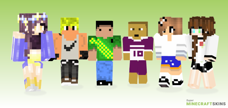 Sports Minecraft Skins - Best Free Minecraft skins for Girls and Boys
