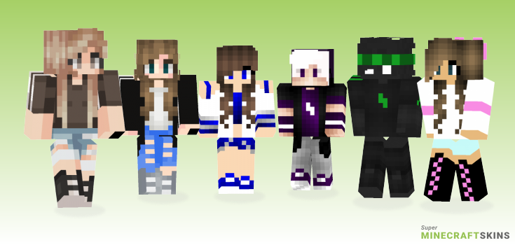 Sporty Minecraft Skins - Best Free Minecraft skins for Girls and Boys