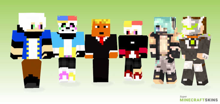 Spray Minecraft Skins - Best Free Minecraft skins for Girls and Boys