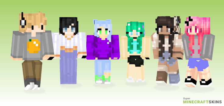 Spring Minecraft Skins - Best Free Minecraft skins for Girls and Boys
