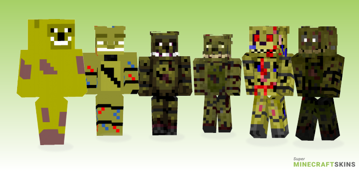 Springtrap Minecraft Skins - Best Free Minecraft skins for Girls and Boys