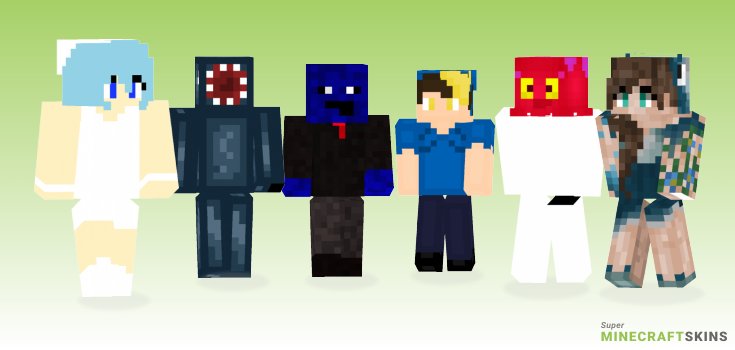 Squid Minecraft Skins - Best Free Minecraft skins for Girls and Boys