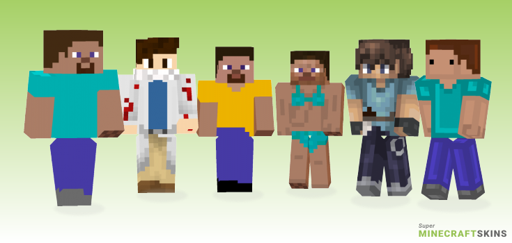 Steve Minecraft Skins - Best Free Minecraft skins for Girls and Boys