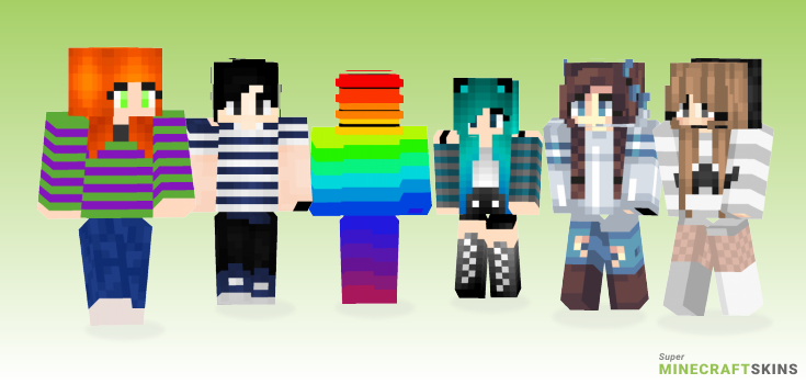 Stripes Minecraft Skins - Best Free Minecraft skins for Girls and Boys