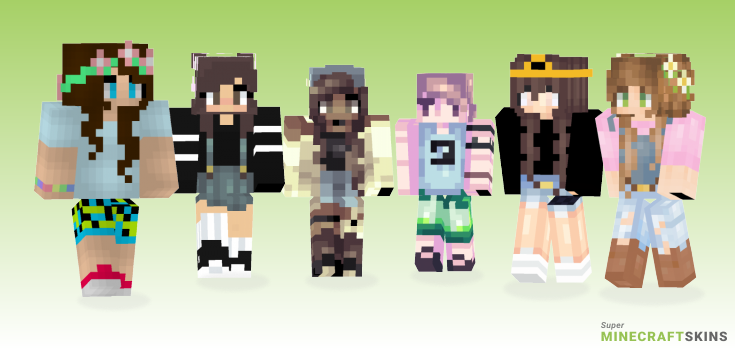 Summertime Minecraft Skins - Best Free Minecraft skins for Girls and Boys