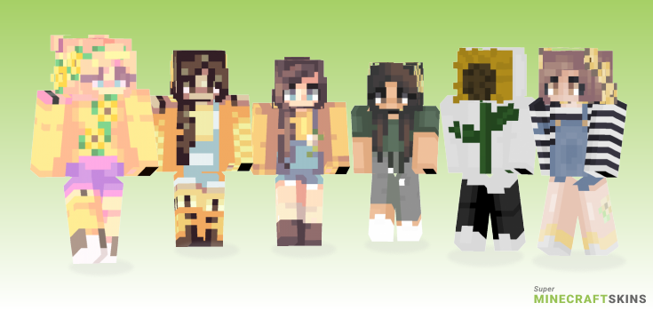 Sunflowers Minecraft Skins - Best Free Minecraft skins for Girls and Boys