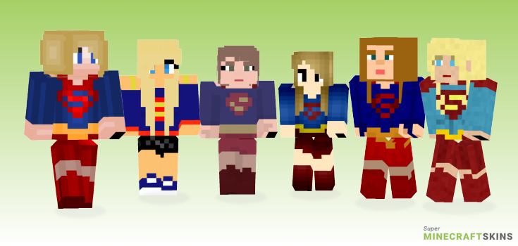 Supergirl Minecraft Skins - Best Free Minecraft skins for Girls and Boys