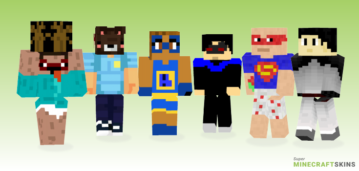 Superhero Minecraft Skins - Best Free Minecraft skins for Girls and Boys