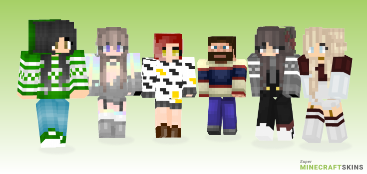 Sweater Minecraft Skins - Best Free Minecraft skins for Girls and Boys