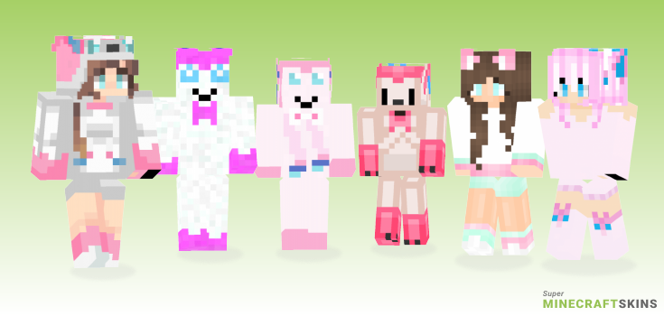 Sylveon Minecraft Skins - Best Free Minecraft skins for Girls and Boys