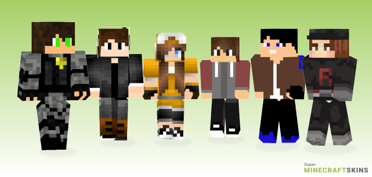 Team Minecraft Skins - Best Free Minecraft skins for Girls and Boys