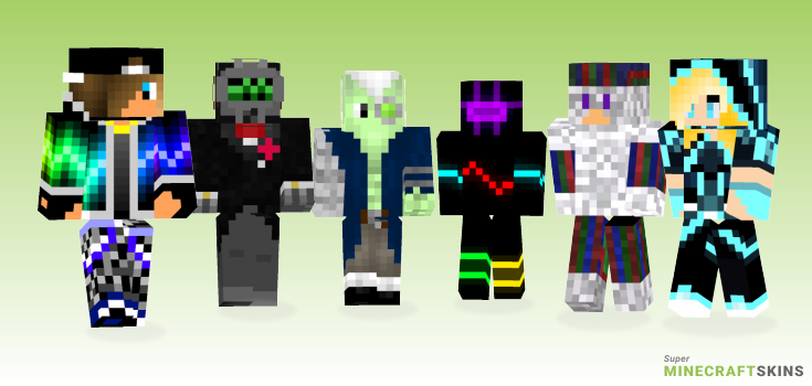 Techno Minecraft Skins - Best Free Minecraft skins for Girls and Boys