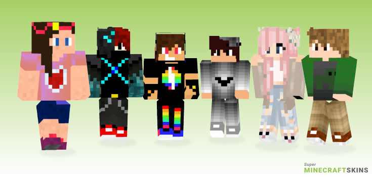 Teen Minecraft Skins - Best Free Minecraft skins for Girls and Boys