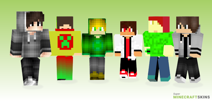 Teenager Minecraft Skins - Best Free Minecraft skins for Girls and Boys