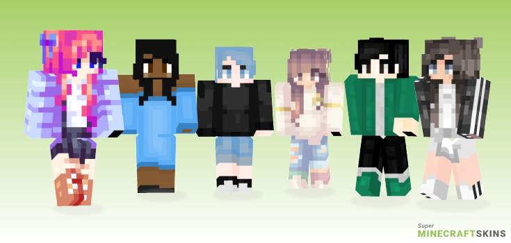 Thoughts Minecraft Skins - Best Free Minecraft skins for Girls and Boys