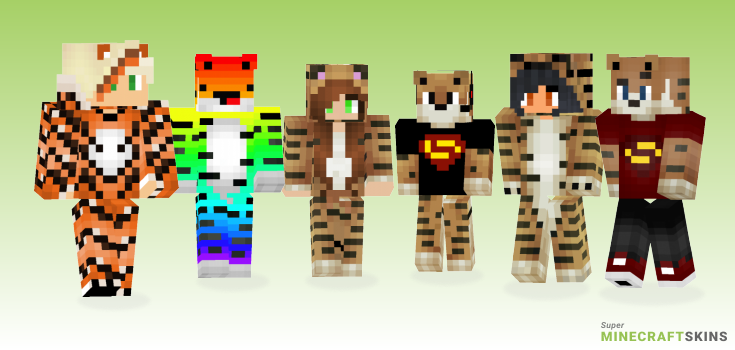 Tiger Minecraft Skins - Best Free Minecraft skins for Girls and Boys