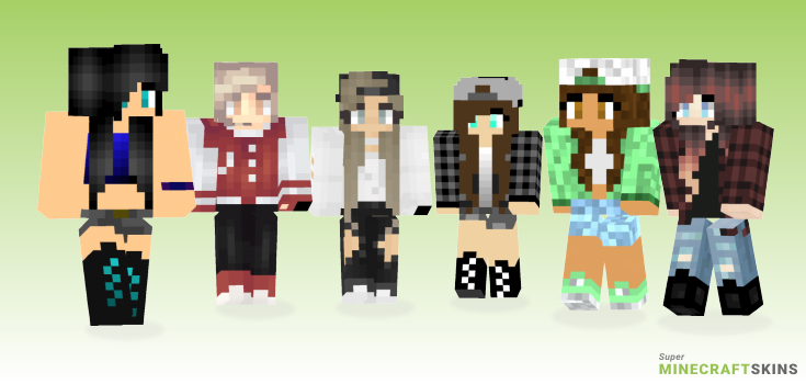 Tomboy Minecraft Skins - Best Free Minecraft skins for Girls and Boys