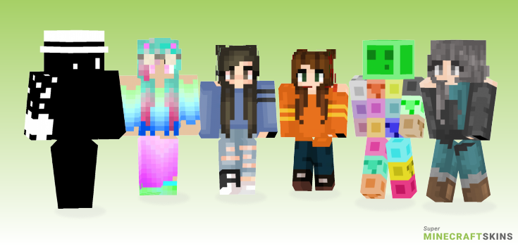Too Minecraft Skins - Best Free Minecraft skins for Girls and Boys