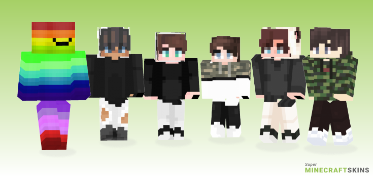 Toomanypixels Minecraft Skins - Best Free Minecraft skins for Girls and Boys