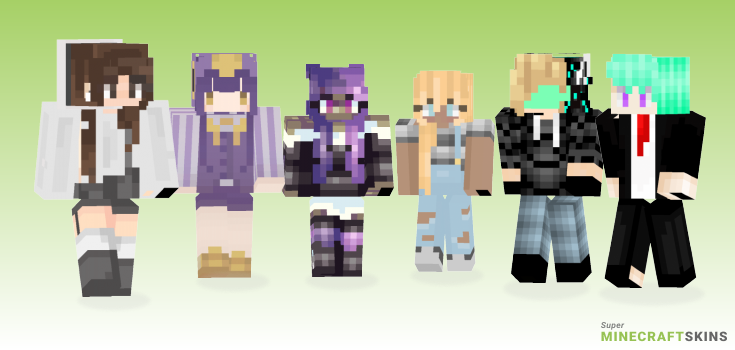 Trash Minecraft Skins - Best Free Minecraft skins for Girls and Boys