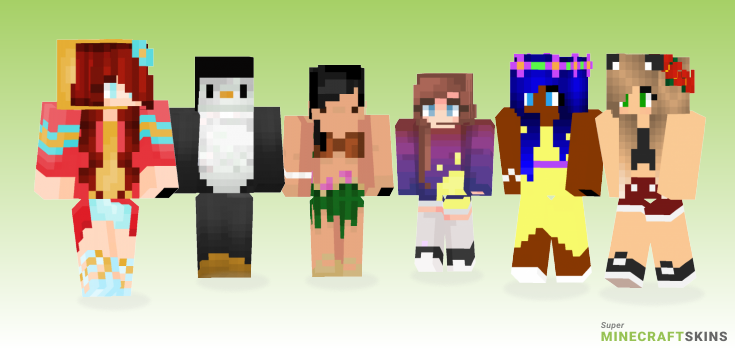 Tropical Minecraft Skins - Best Free Minecraft skins for Girls and Boys