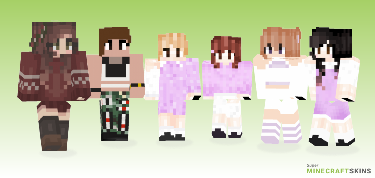 Twice Minecraft Skins - Best Free Minecraft skins for Girls and Boys
