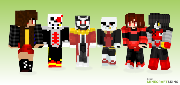 Underfell Minecraft Skins - Best Free Minecraft skins for Girls and Boys