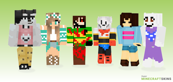 Undertale Minecraft Skins - Best Free Minecraft skins for Girls and Boys