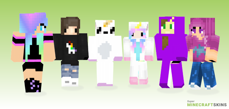 Unicorn Minecraft Skins - Best Free Minecraft skins for Girls and Boys