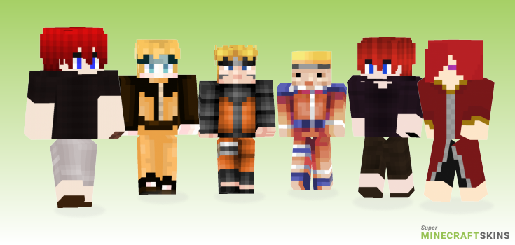 Uzumaki Minecraft Skins - Best Free Minecraft skins for Girls and Boys